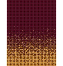 Bubble gradient pattern in orange and burgundy vector