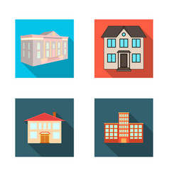 building and city sign set vector image
