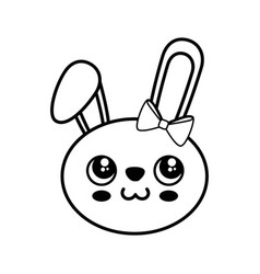 Bunny kawaii cartoon vector