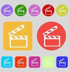 Cinema clapper sign icon video camera symbol 12 vector