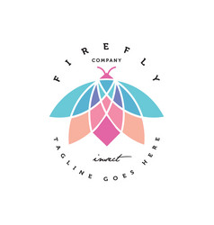 Colorful firefly logo vector