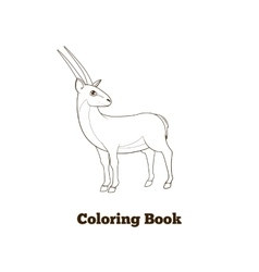 Coloring book gazelle african animal cartoon vector