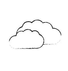Contour cloud weather icon isolated vector