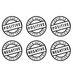 covid-19 stamps vector image
