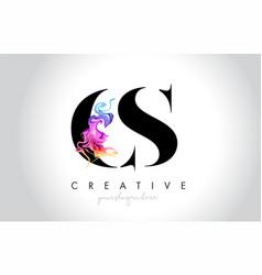 Cs vibrant creative leter logo design vector