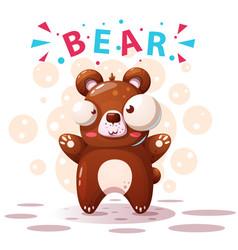 cute bear characters - cartoon vector image