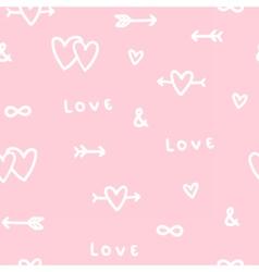 Cute romantic love seamless pattern vector