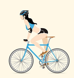 Cyclists and fixed gear bicycle vector image