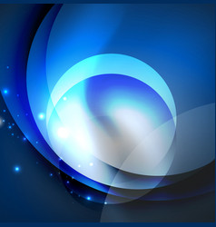 Digital glowing waves and circles vector