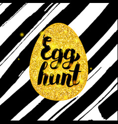 Egg hunt hand drawn card vector