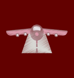flat icon in shading style airplane runway vector image