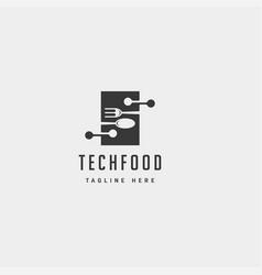 Food technology modern simple flat logo template vector
