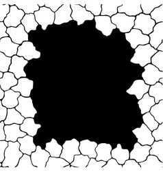 Frame template with cracks vector