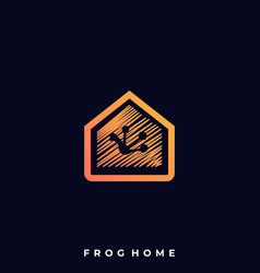 frog home template vector image