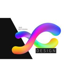 futuristic design multicolored background vector image