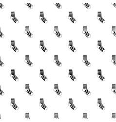 Fuzzy sock pattern seamless vector