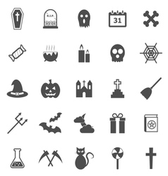 Halloween icons on white background vector image