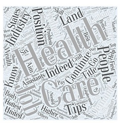 Health Care Job Search Tips Health Is Wealth vector