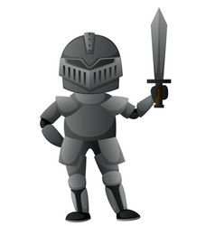 knight with iron armour vector image