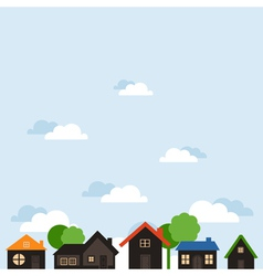 Landscape of houses vector