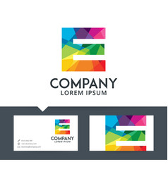 letter e - logo design vector image