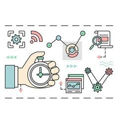 Linear concept of process social media business vector