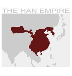 Map of the attila the hun empire vector