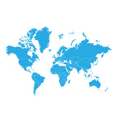 map of world high detailed map - world vector image