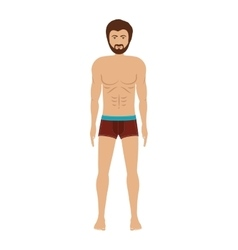 men with brown swimming boxer vector image