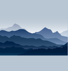 Morning in mountains vector
