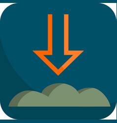 Night atmospheric pressure simple icon with dark vector