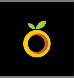 orange fruit logo template vector image