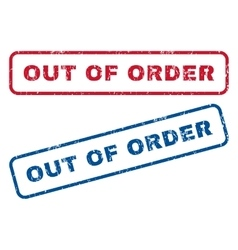 Out Of Order Rubber Stamps vector image