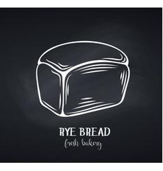 Rye bread chalkboard style vector
