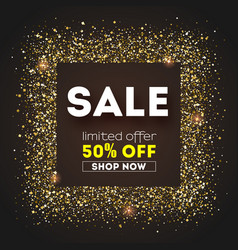 sale get up to 50 percent discount advertising vector image