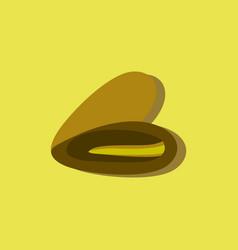 Scallop sea shell sketch style in sticker style vector