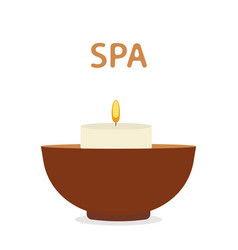Scented candle spa aromatherapy icon vector