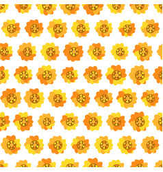 seamless background with daisy yellow flowers vector image