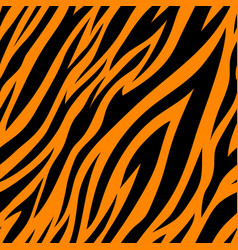 seamless pattern with tiger stripes vector image