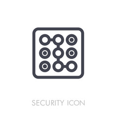 security code icon phone lock vector image