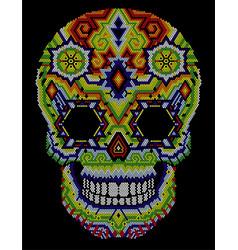 Skull huichol aztec vector