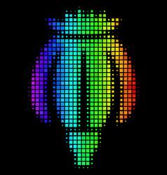 Spectrum dot opium poppy icon vector