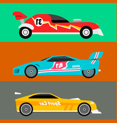 sport speed automobile and offroad rally car vector image