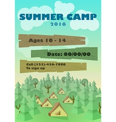 Summer Camp Flyer vector