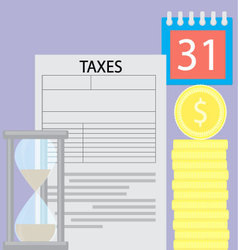 Tax day concept time is money vector