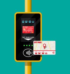 Terminal and passenger transport card vector