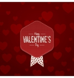Valentines Day paper Card with Place for Text vector