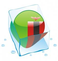 Zambia flag vector image