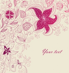 back floral vector image vector image