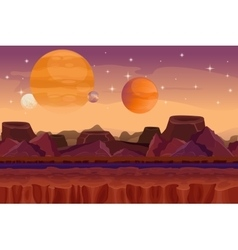 Cartoon sci-fi game seamless background vector image